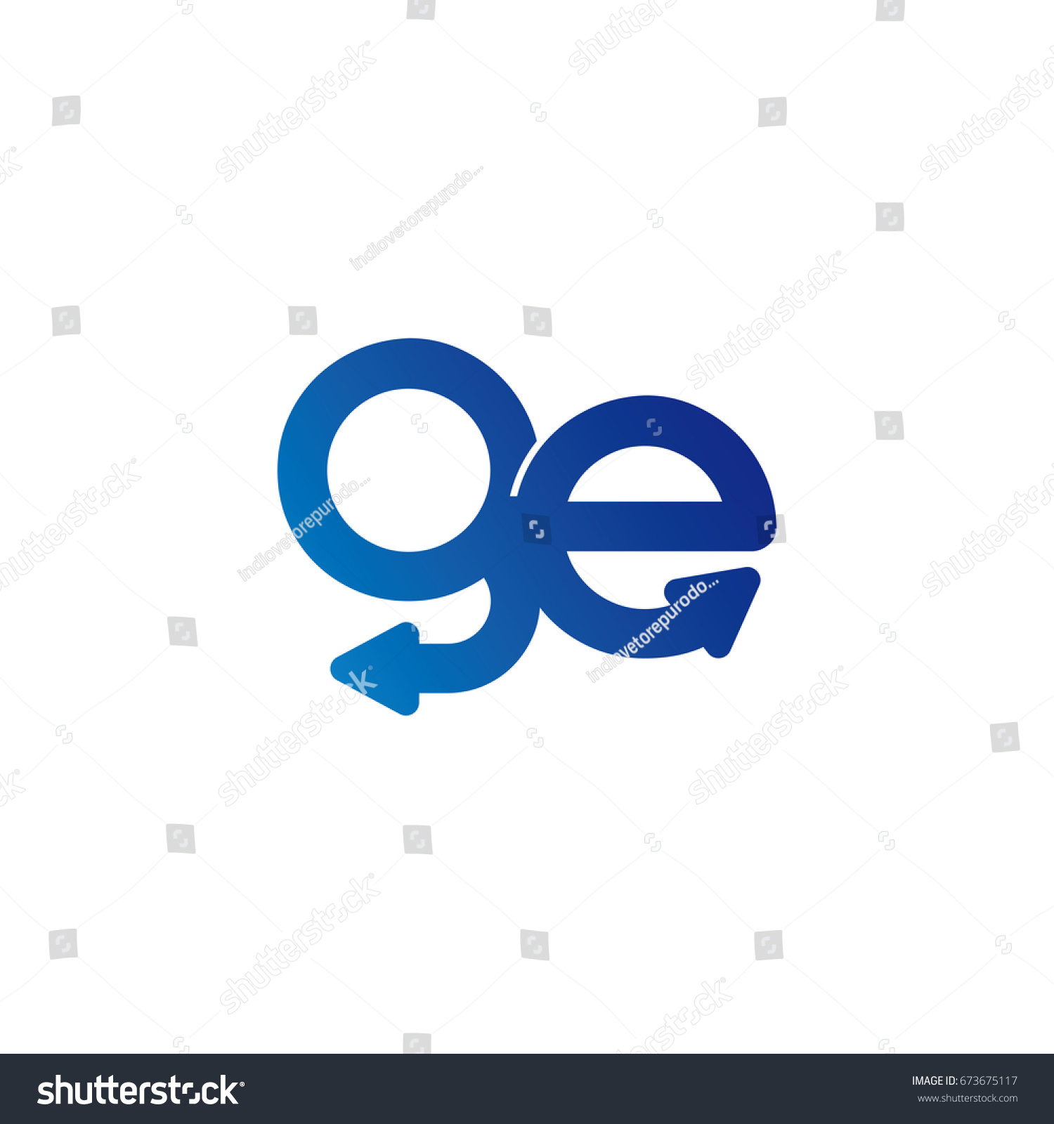 Initial letter logo ge eg g stock vector 673675117 shutterstock initial letter logo ge eg g e arrow rounded lowercase blue biocorpaavc Gallery