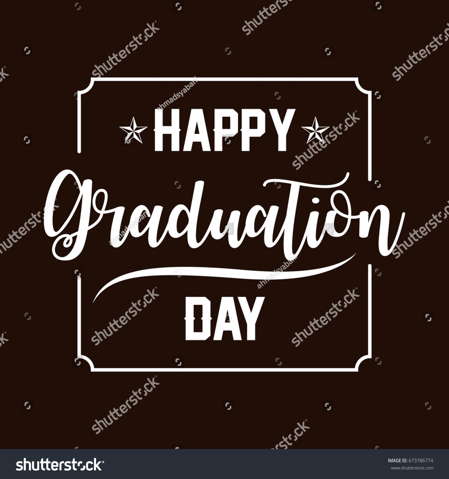 Graduation day greetings image collections greetings card design happy graduation day hand drawn lettering stock vector hd royalty m4hsunfo
