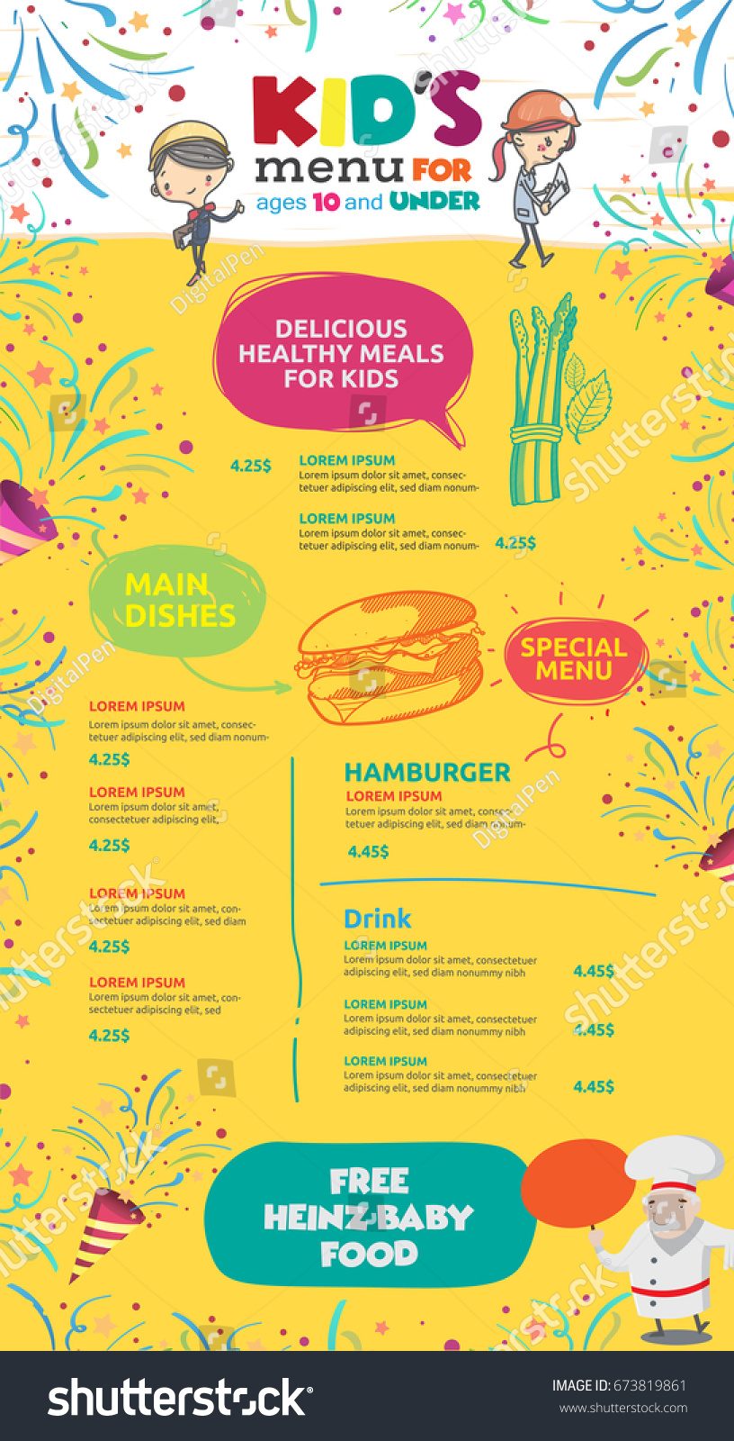 Vector kids menu template stock vector royalty free 673819861 vector kids menu template maxwellsz