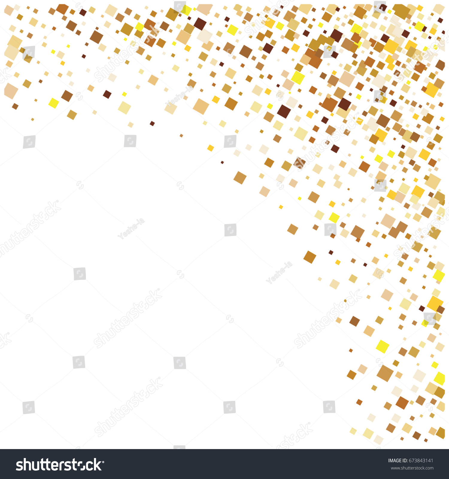 rich golden vector sparkling confetti squares falling down vip premium design christmas new