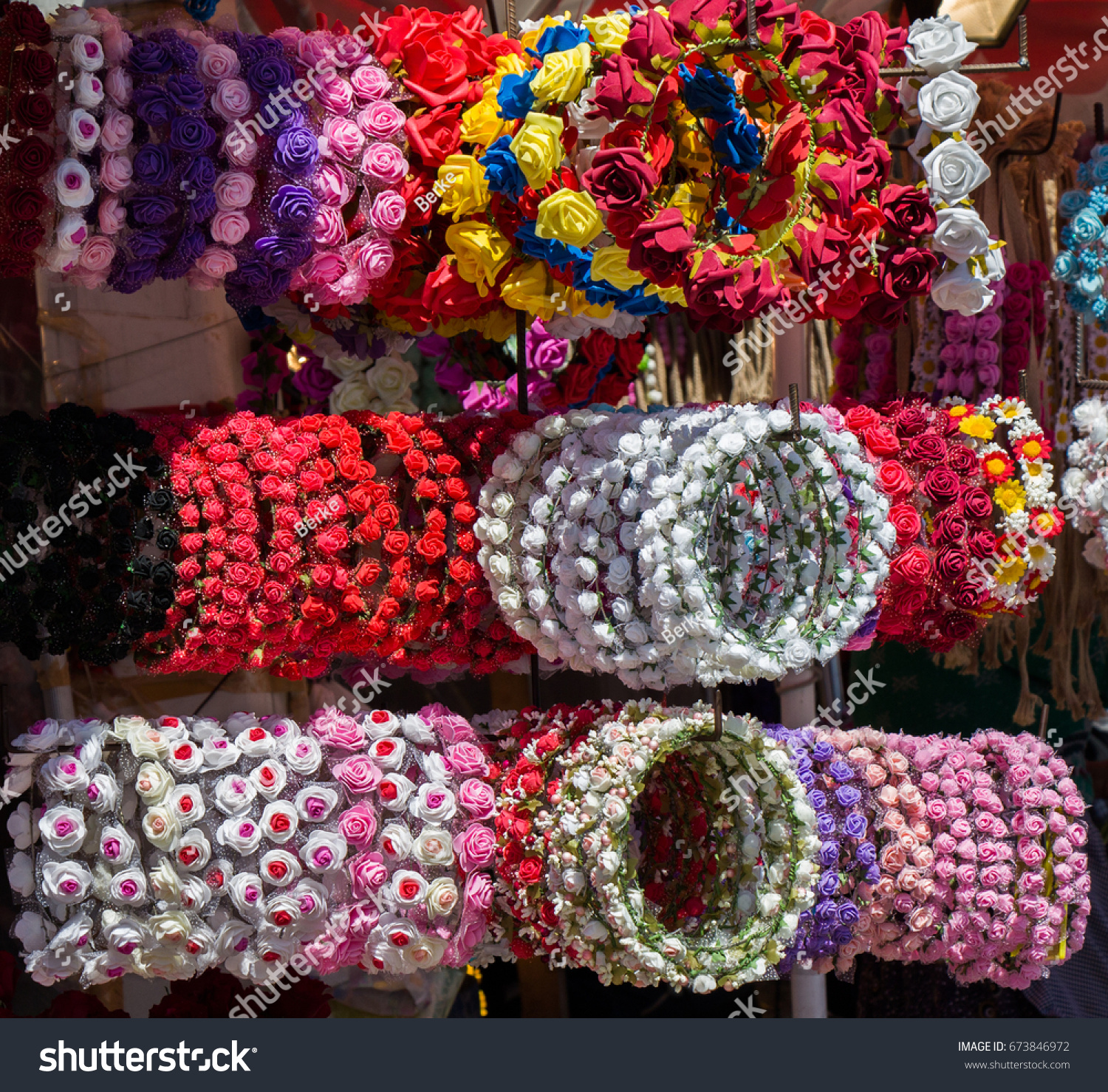 Crown Made Fake Flowers Stock Photo 673846972 Shutterstock