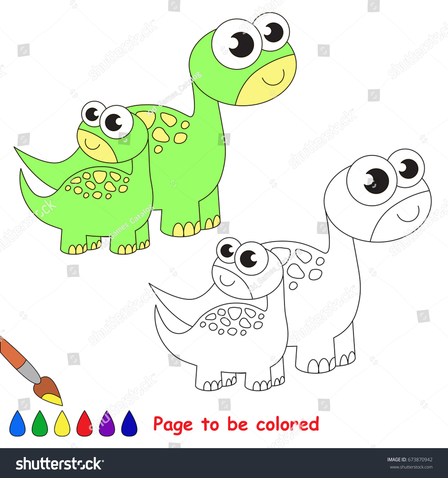 Funny One Brontosaurus Mom Be Colored Stock Vector HD (Royalty Free ...