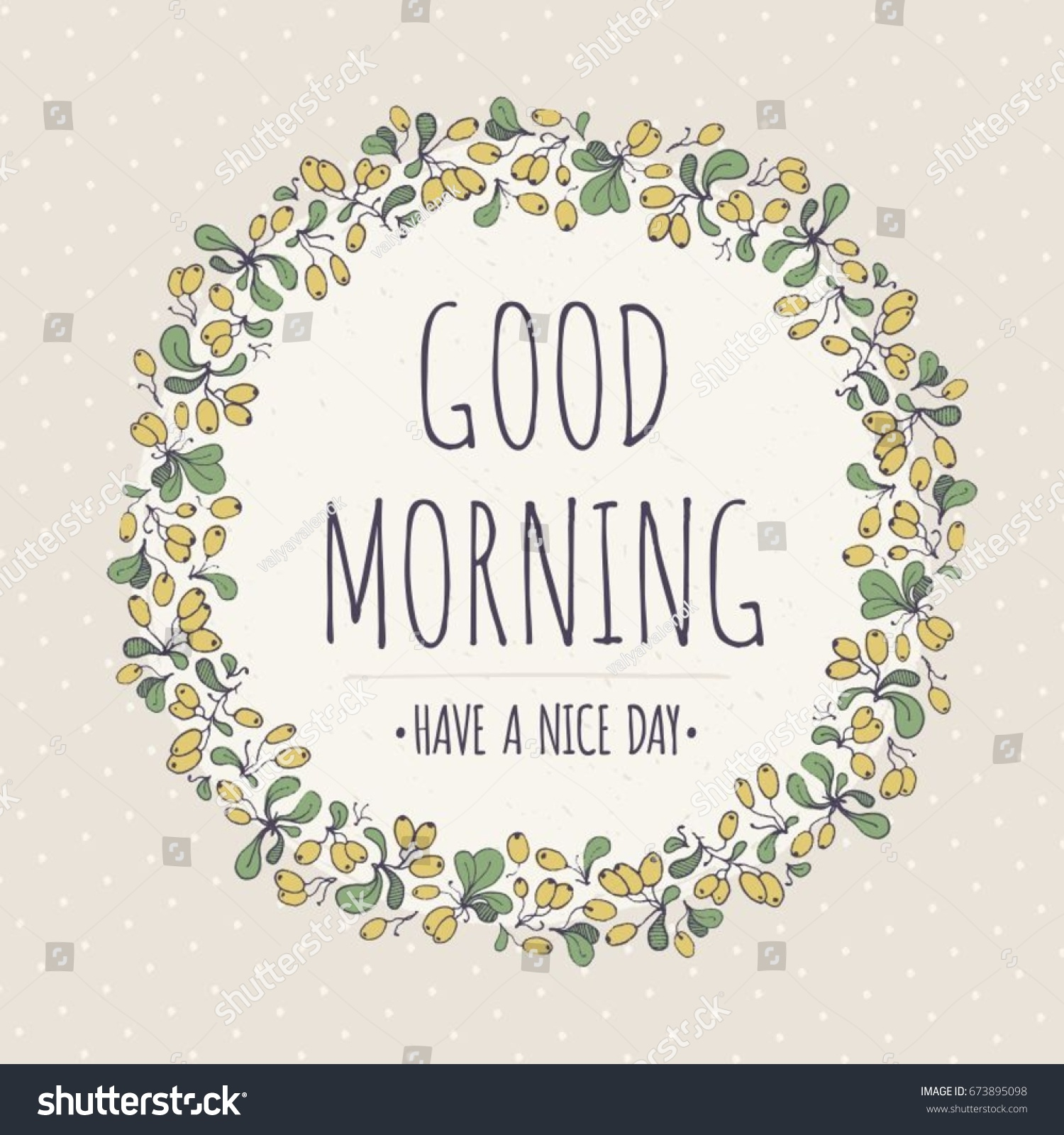 Good Morning Have Nice Day Text Stock Vector Royalty Free