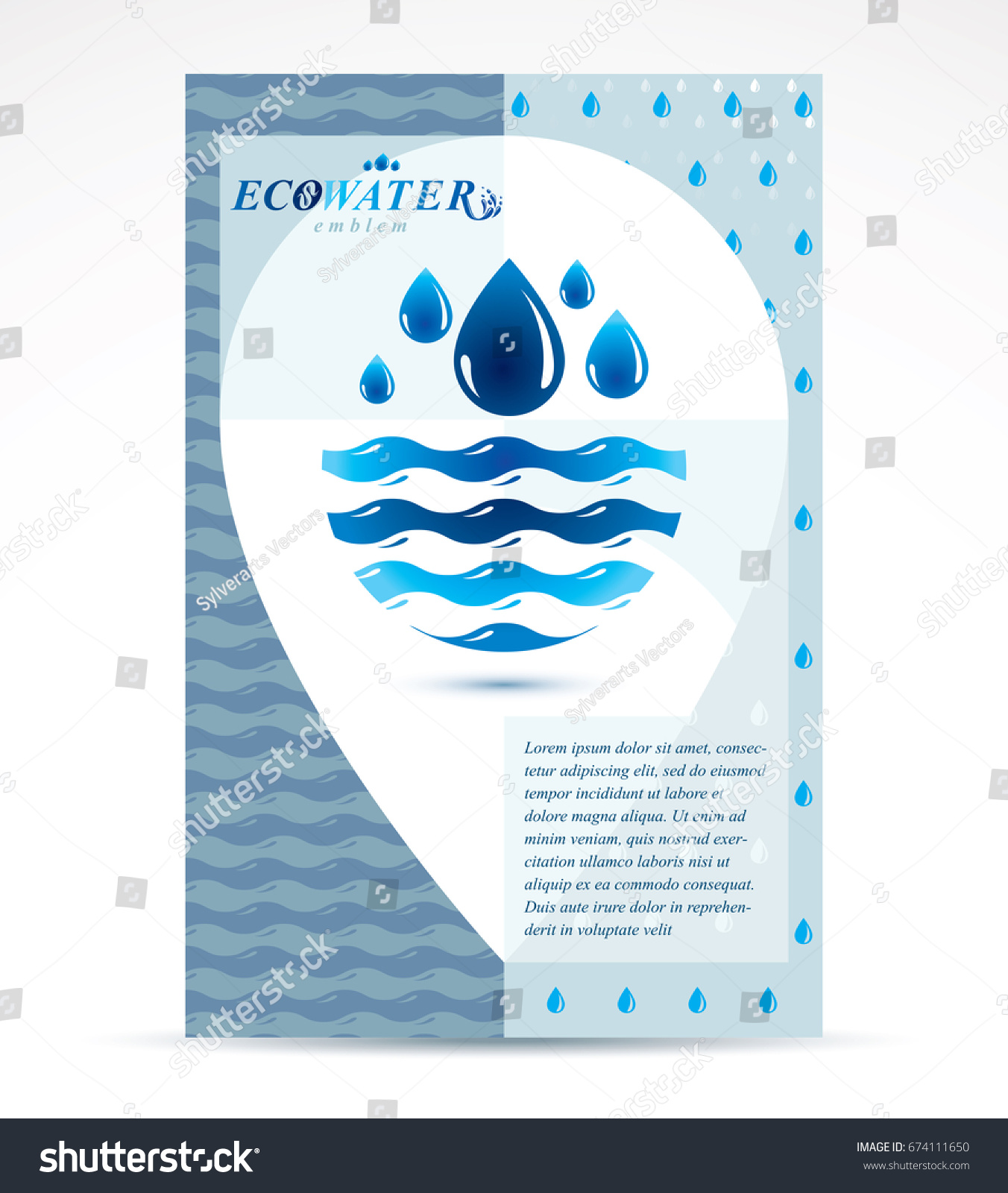 Water Purification Business Promotion Idea Brochure Stock Vector