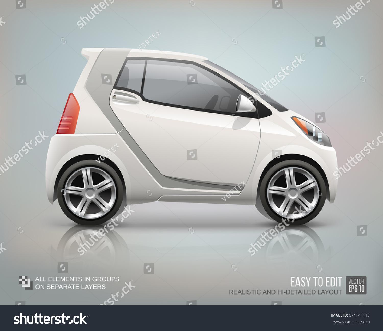Futuristic Mini Car Vector Template Car Stock Vector 674141113 ...