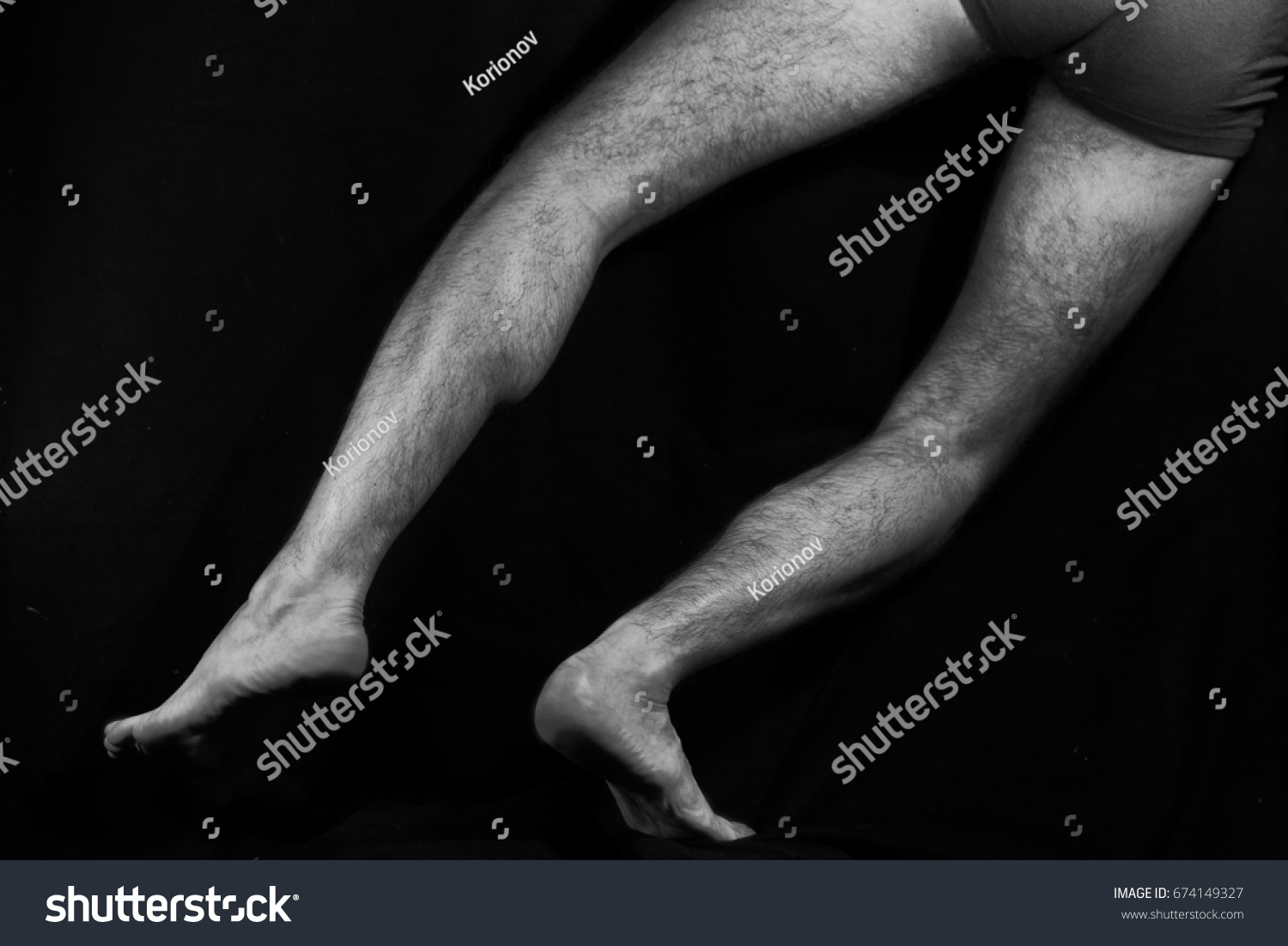 Beautiful Muscular Bare Male Feet On Stock Photo Edit Now