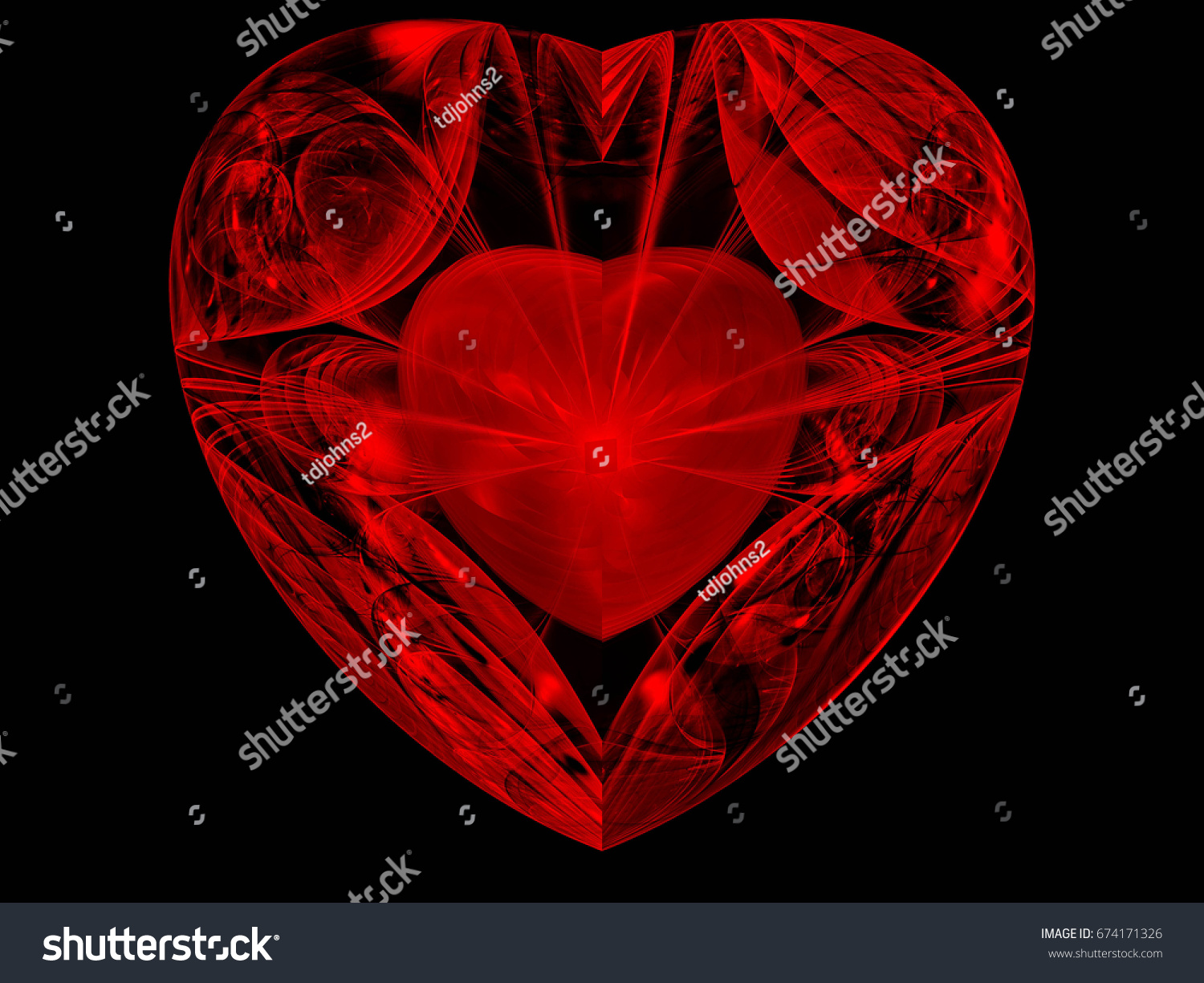 Abstract fractal heart within heart stock illustration 674171326 abstract fractal heart within a heart biocorpaavc Images
