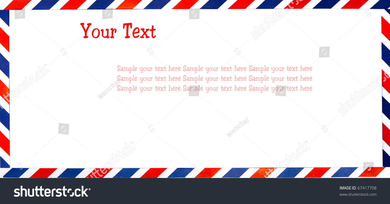 Envelopment Letter Frame Wish Space Your Stock Photo 67417708 ...
