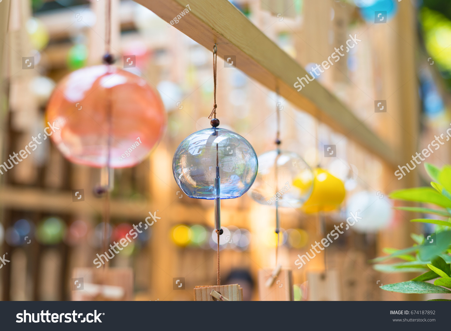 Colorful japanese wind chimes summer feature stock photo 674187892 colorful japanese wind chimes summer feature of japan buycottarizona Choice Image