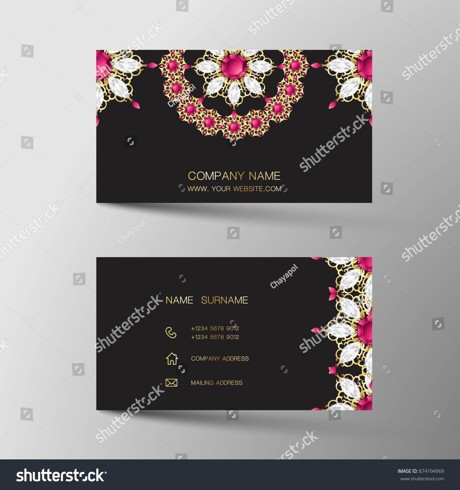 Luxurious indian business card diamond gem stock vector 674194969 luxurious indian business card diamond gem jewelry color magicingreecefo Choice Image