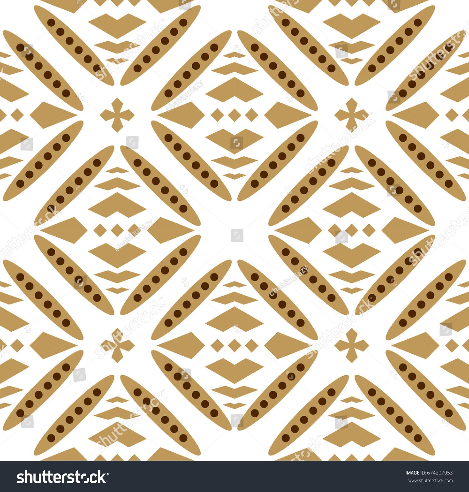 more photos c3050 e091c Bali Batik Vector Pattern Stock Vector (Royalty Free) 674207053