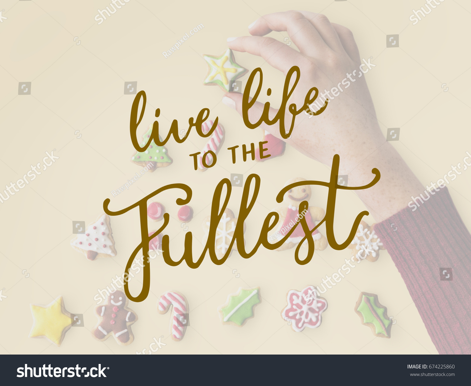 Live Life To The Fullest Quotes Live Life Fullest Quote Message Stock Photo 674225860  Shutterstock