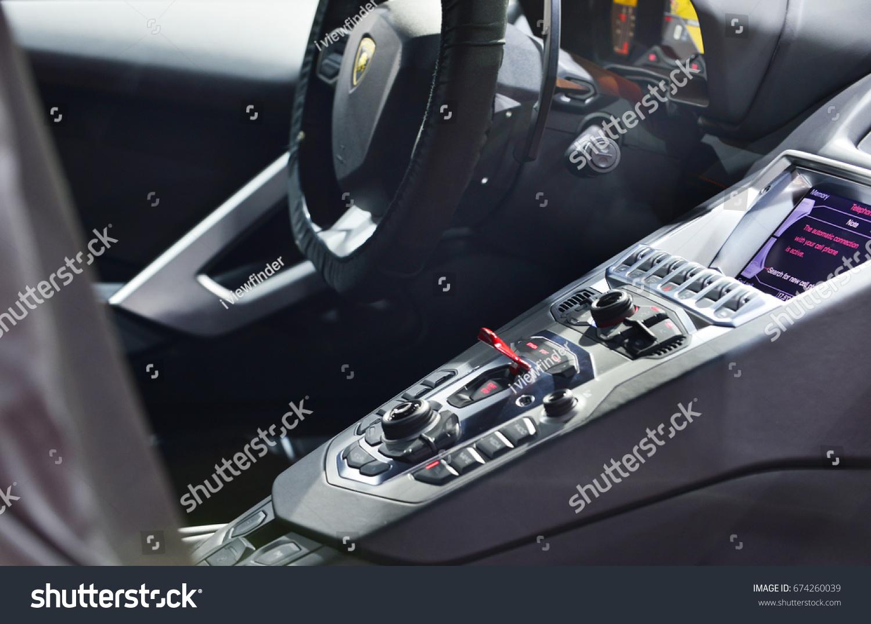 BANGKOK JUNE 23 Interior Lamborghini Aventador Stock Photo (Edit Now ...