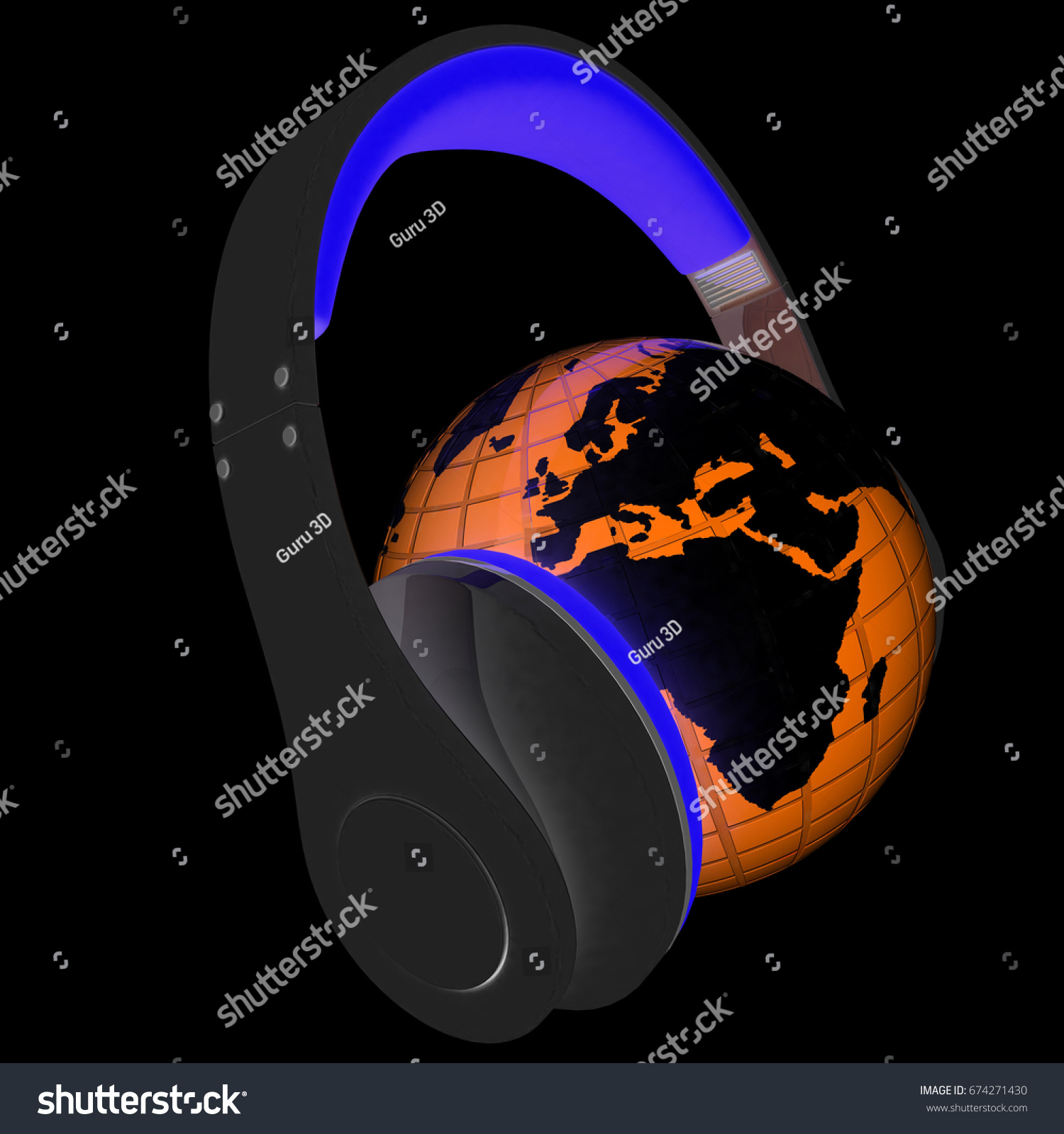 Abstract symbol music earth 3d illustration stock illustration abstract symbol music and earth 3d illustration on a black background buycottarizona