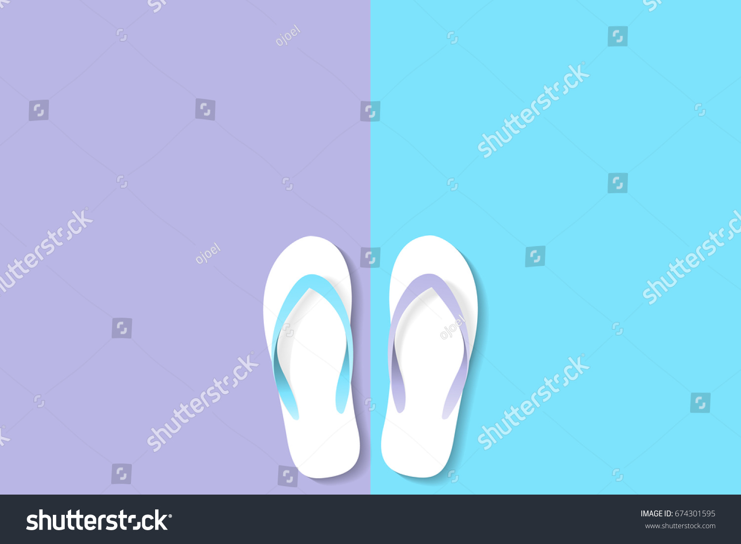Vector Slippers Rubber Types Pastel Violet Stock Vector 674301595 ...