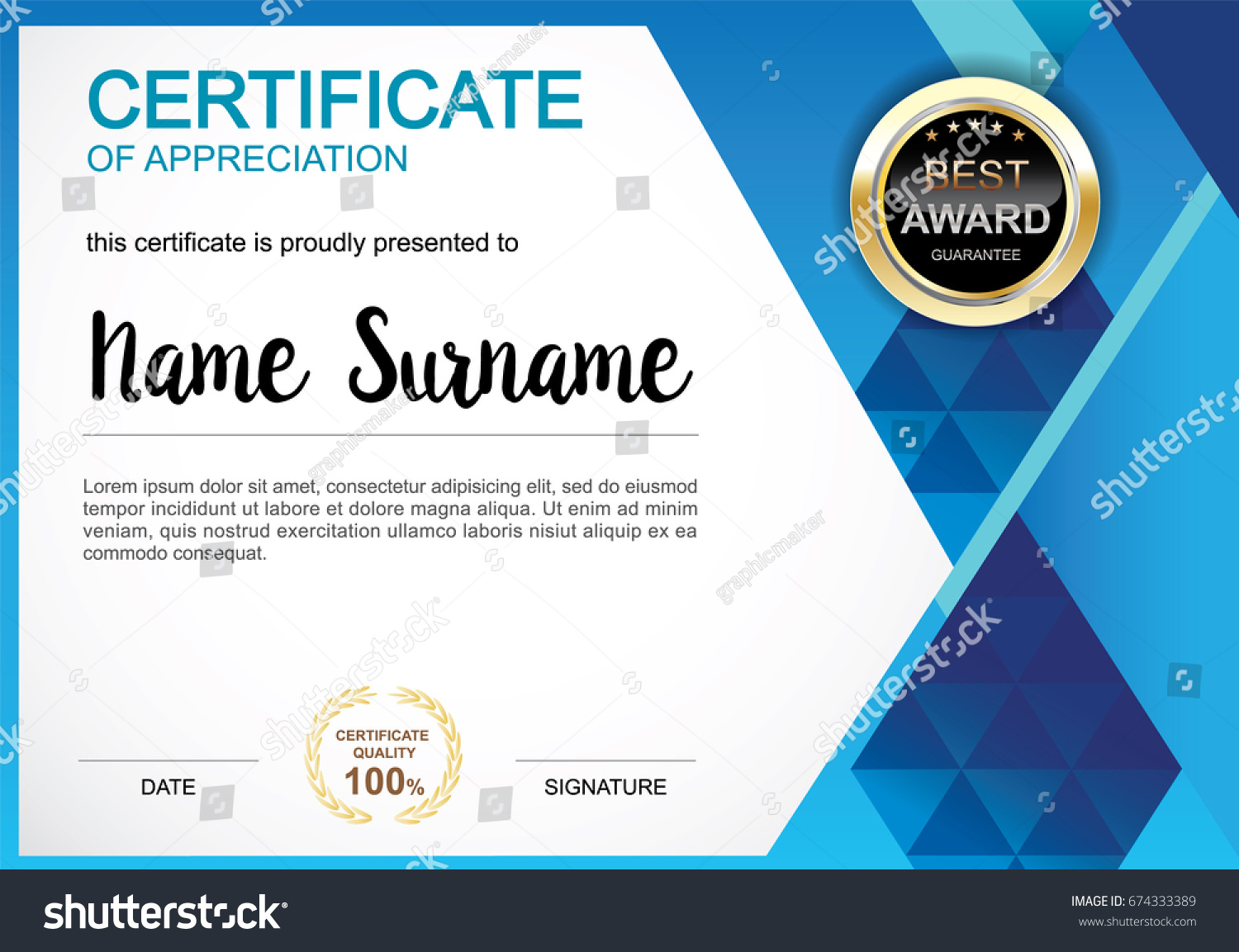 Certificate Template Clean Modern Diploma Official Vector – Official Certificate Template