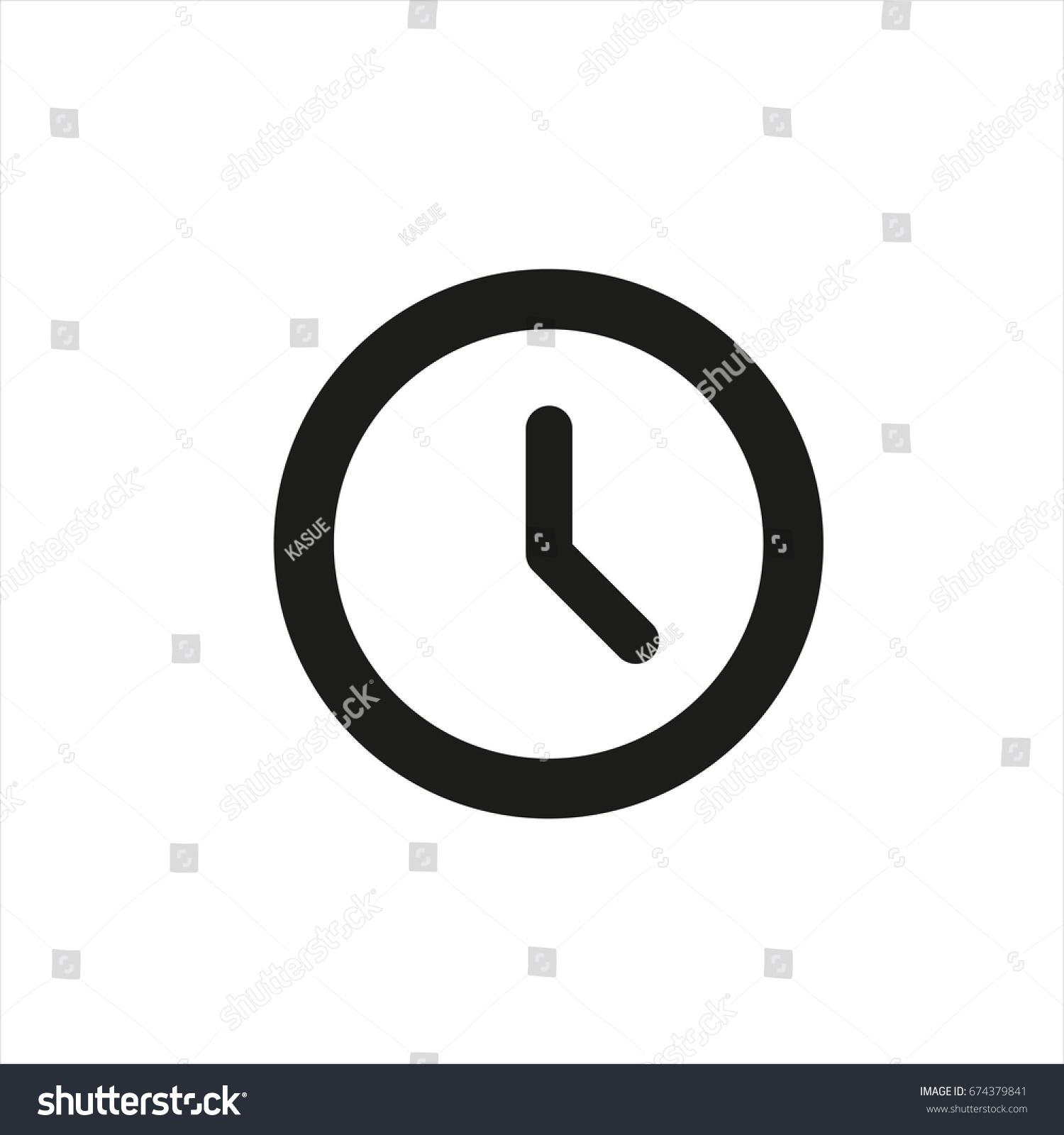 Clock Icon Trendy Flat Style Isolated Stock-Vektorgrafik 674379841 ...