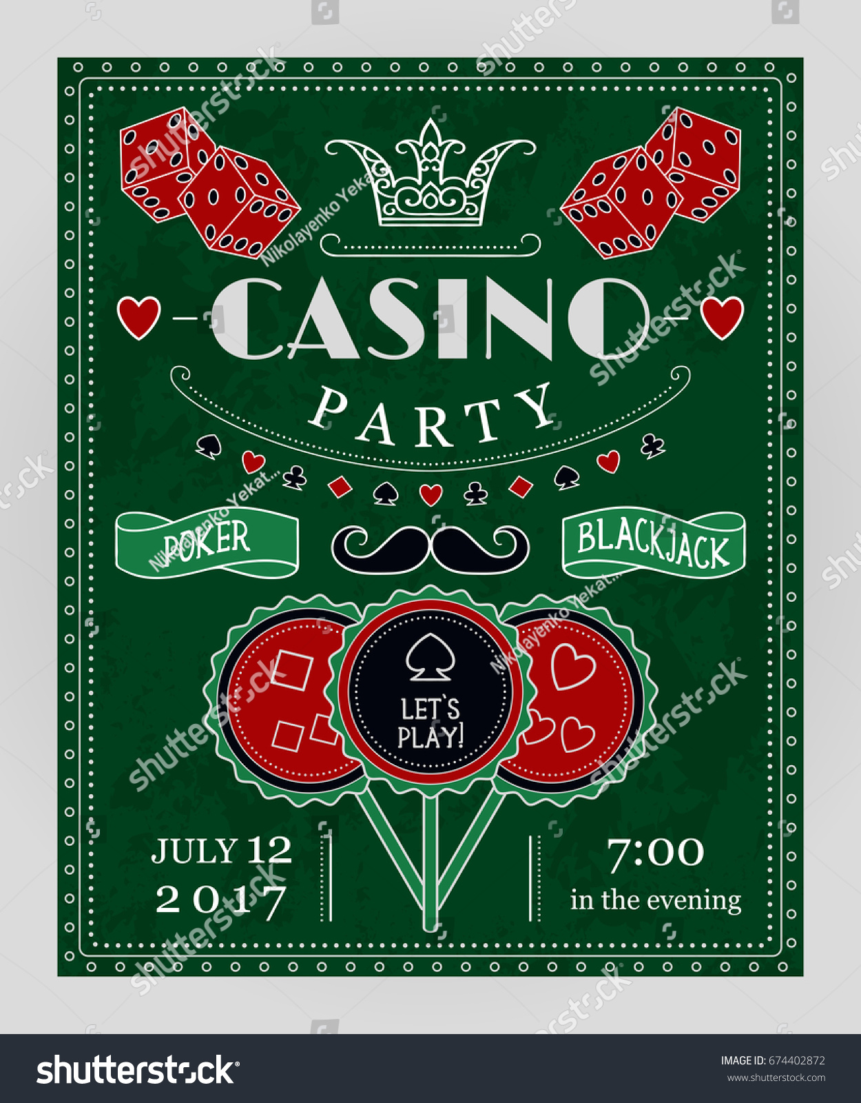 Casino Night Party Invitations Choice Image - Party Invitations Ideas