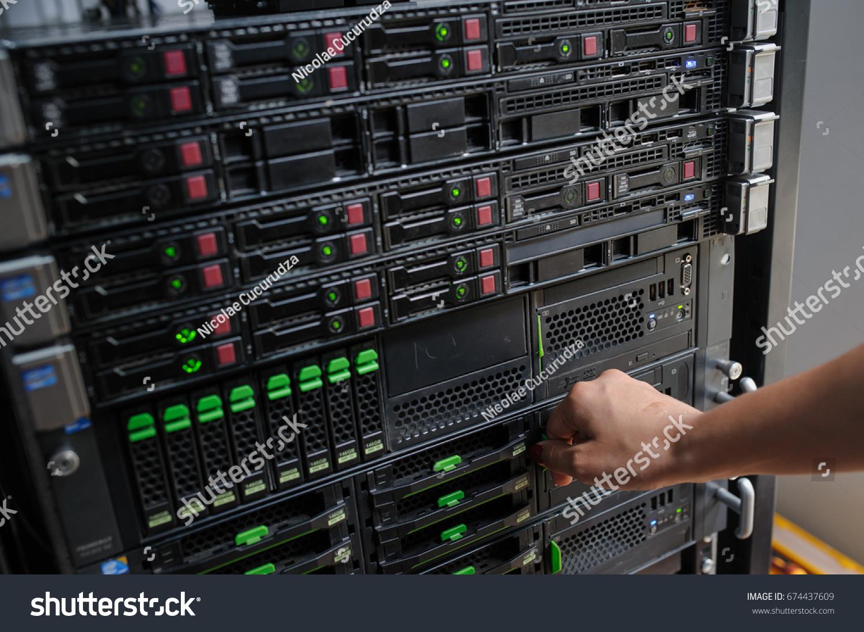 royalty racks datacenter free super rack photo computer in server illustration picture stock