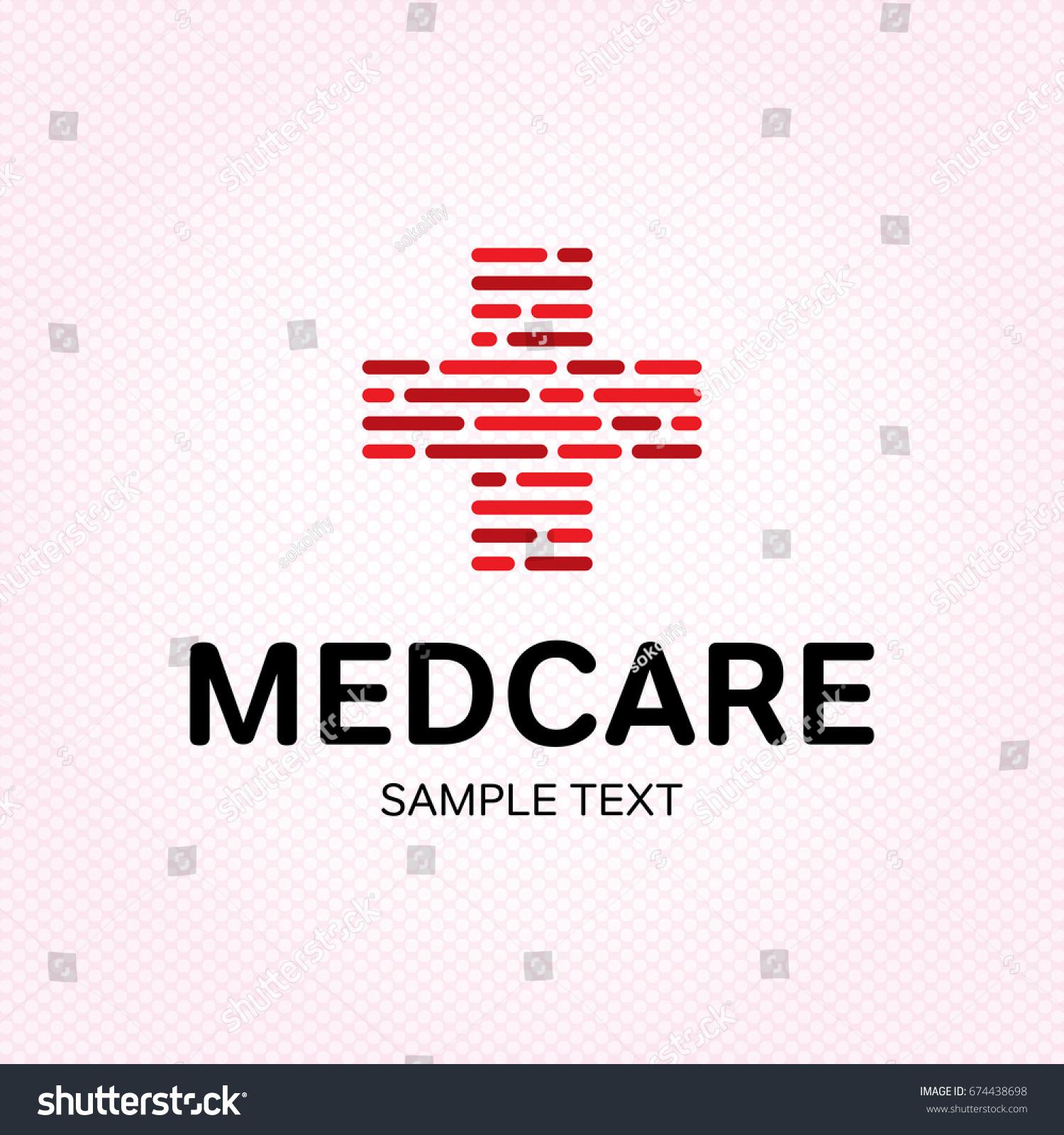 Medical Care Logo Design Template Vector Plus Label Symbol For Hospital Pharmacy Ambulance