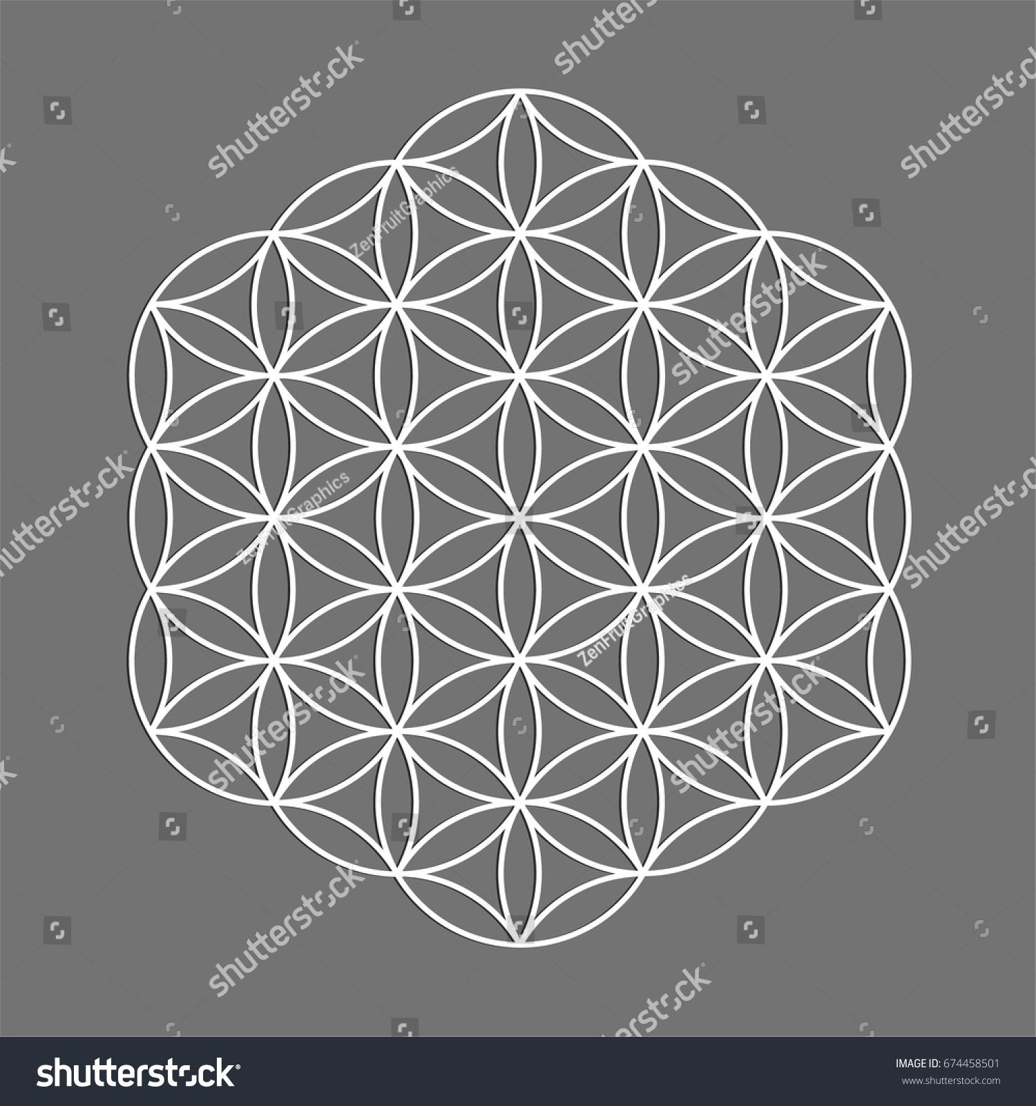 Sacred geometry symbol flower life alchemy stock vector 674458501 sacred geometry symbol flower of life for alchemy spirituality religion philosophy biocorpaavc