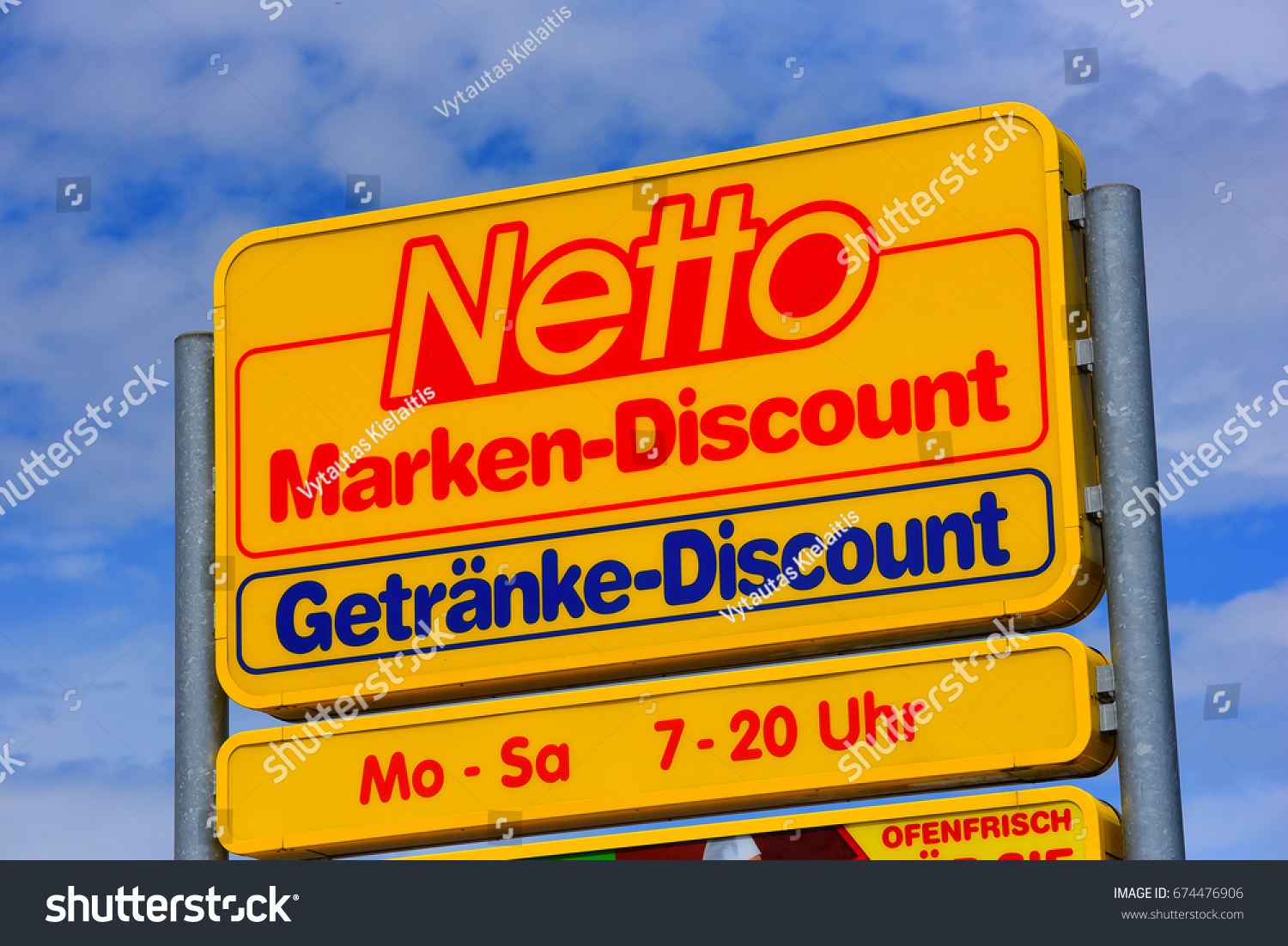 MAINZGERMANY JULY 08 Netto Marken Discount Advertising Shield Stock ...