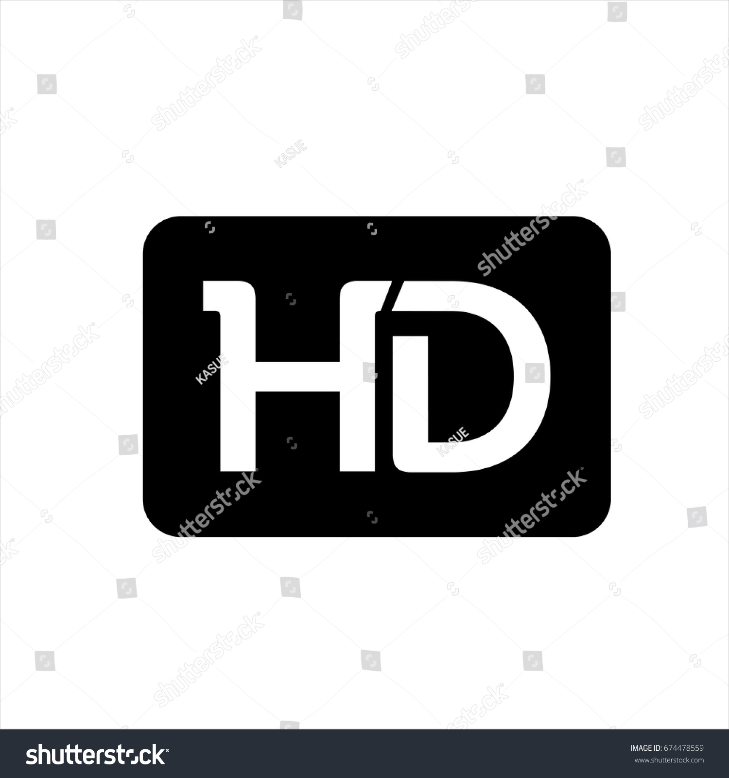 hd icon trendy flat style isolated stock photo (photo, vector