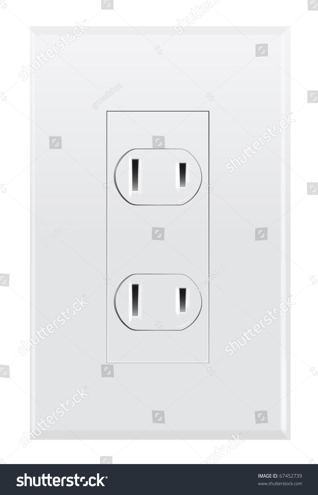 North American Wall Socket Stock Illustration 67452739 - Shutterstock