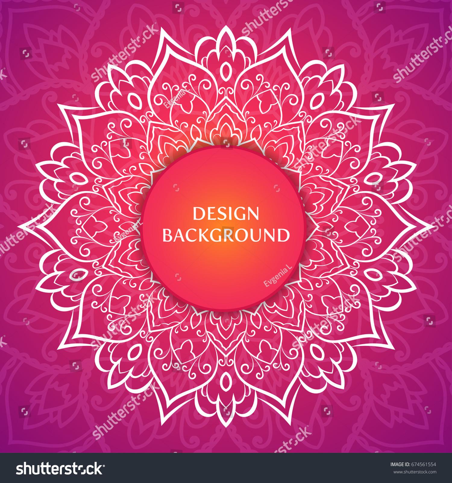 Vector Luxury Wedding Invitation Mandala Hand Stock Vector (Royalty ...
