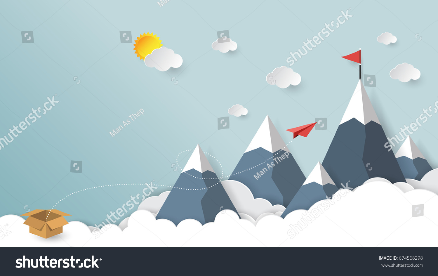 Red Paper Airplane Out Box Red Stock Vector Shutterstock - Box paper airplane