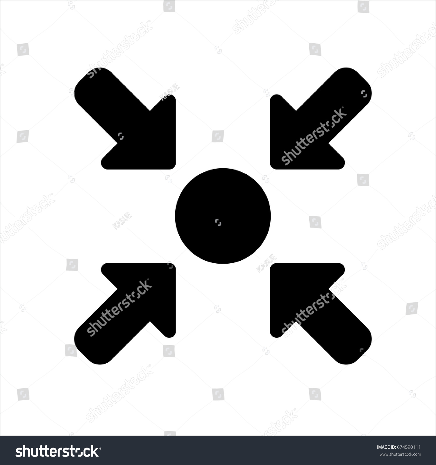 Meeting Point Icon Trendy Flat Style Stock Vector Royalty Free