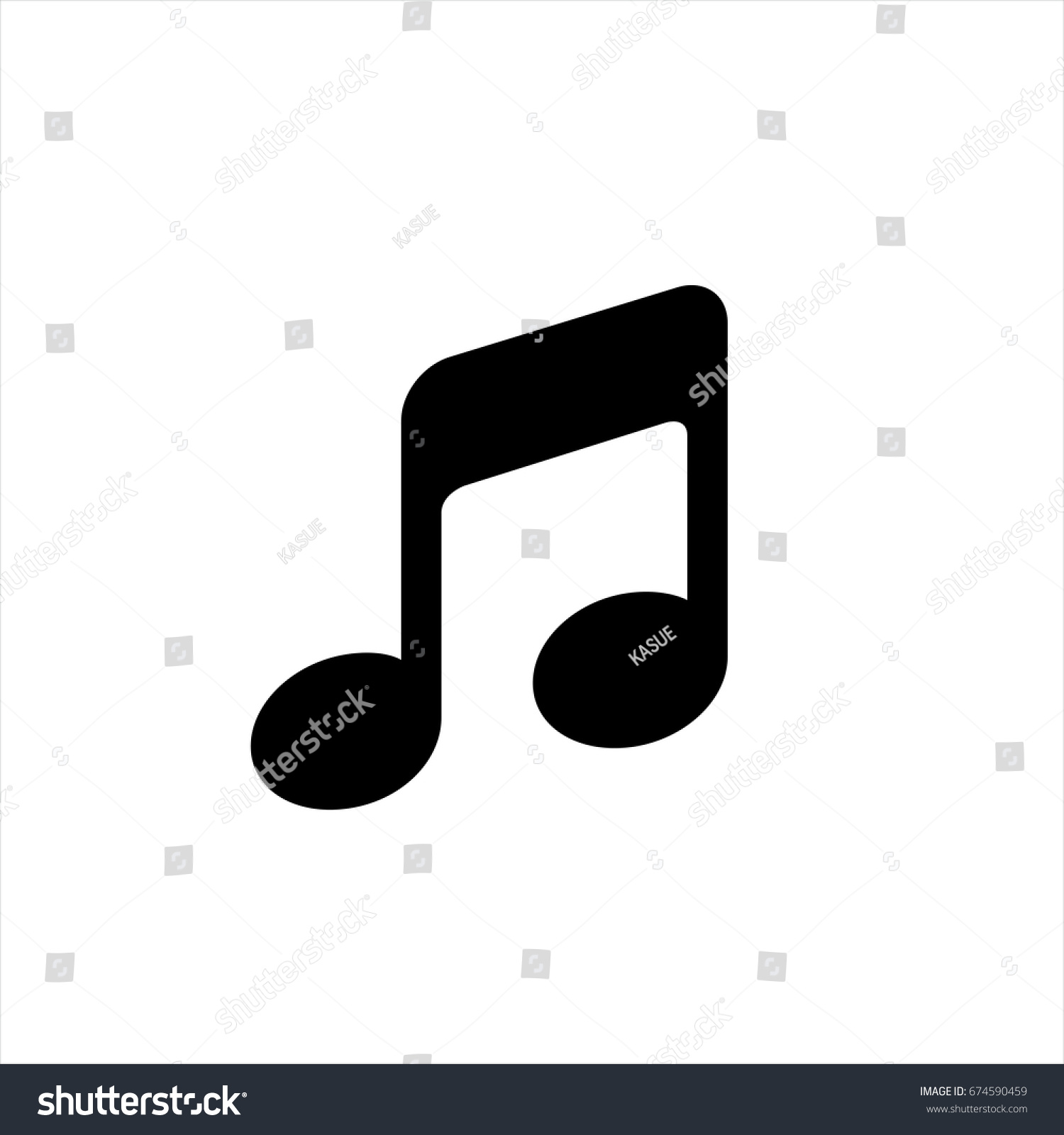 music note icon trendy flat style stock vector 674590459