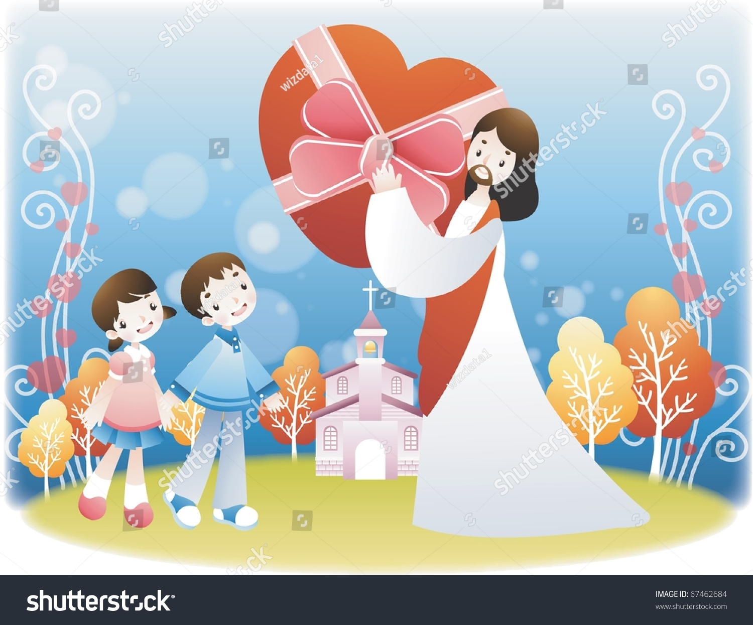 jesus christ children stock vector 67462684 shutterstock