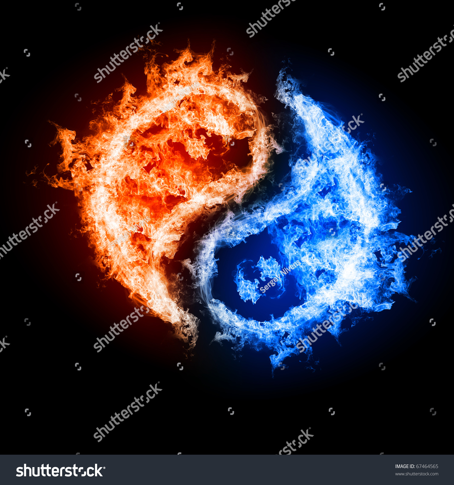 Symbol yin yang dark background form stock illustration 67464565 symbol of yin and yang of the dark background in the form of fire and water biocorpaavc Choice Image