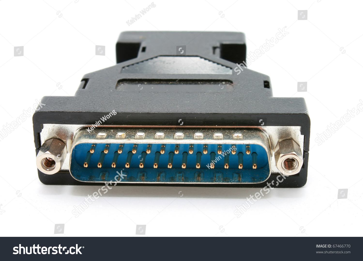 Computer Monitor Plug : D sub plug and socket of blue adapter computer monitor