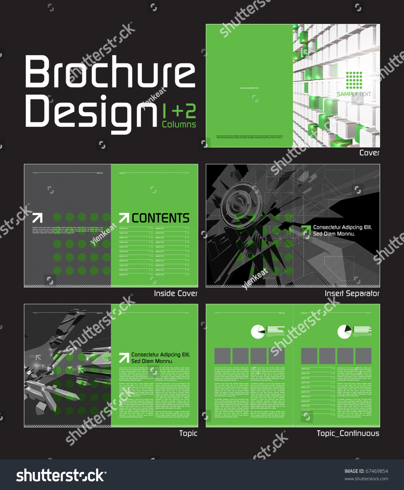 Brochure Layout Design Template 10 Pages Stock Vector Royalty Free