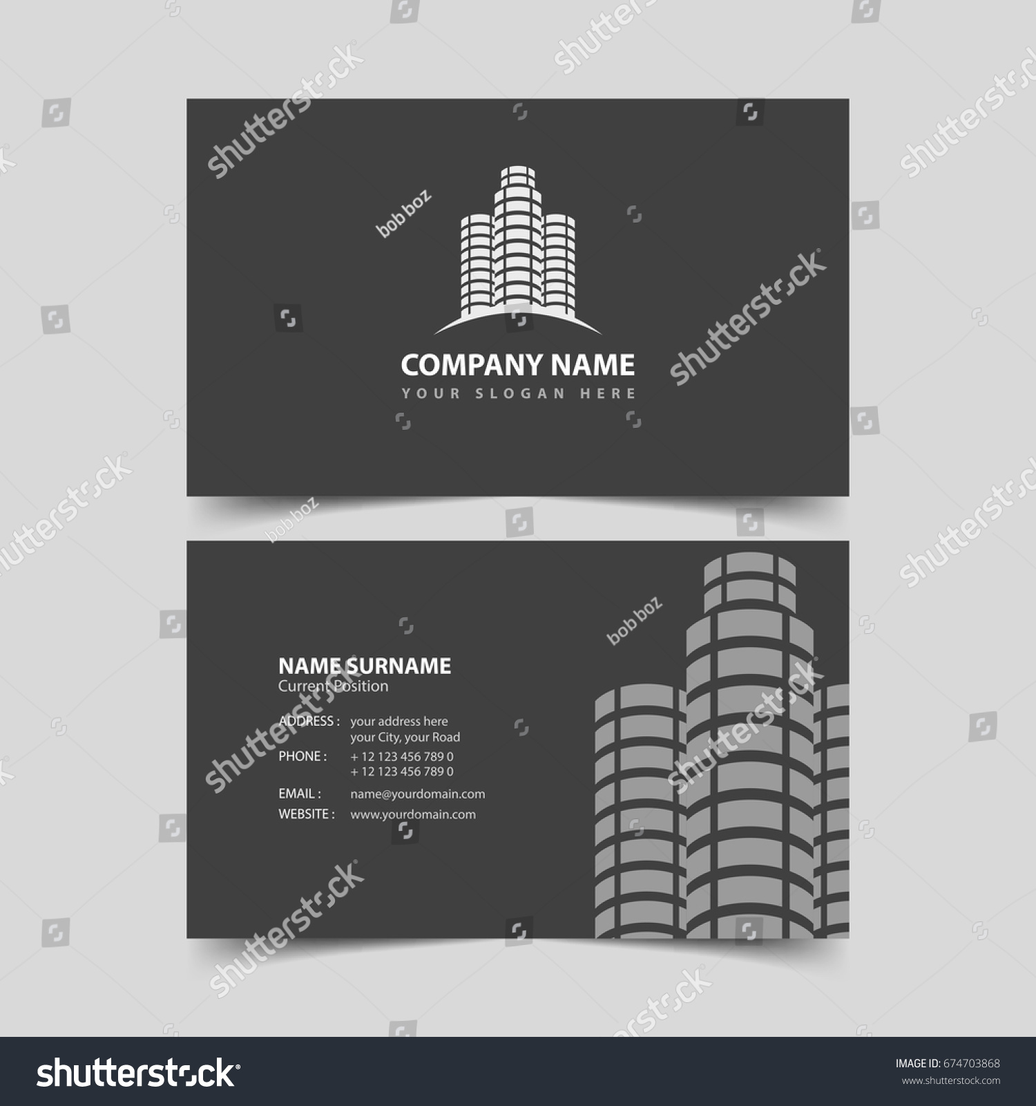 Realtor business card design template stock vector royalty free realtor business card design template accmission Choice Image