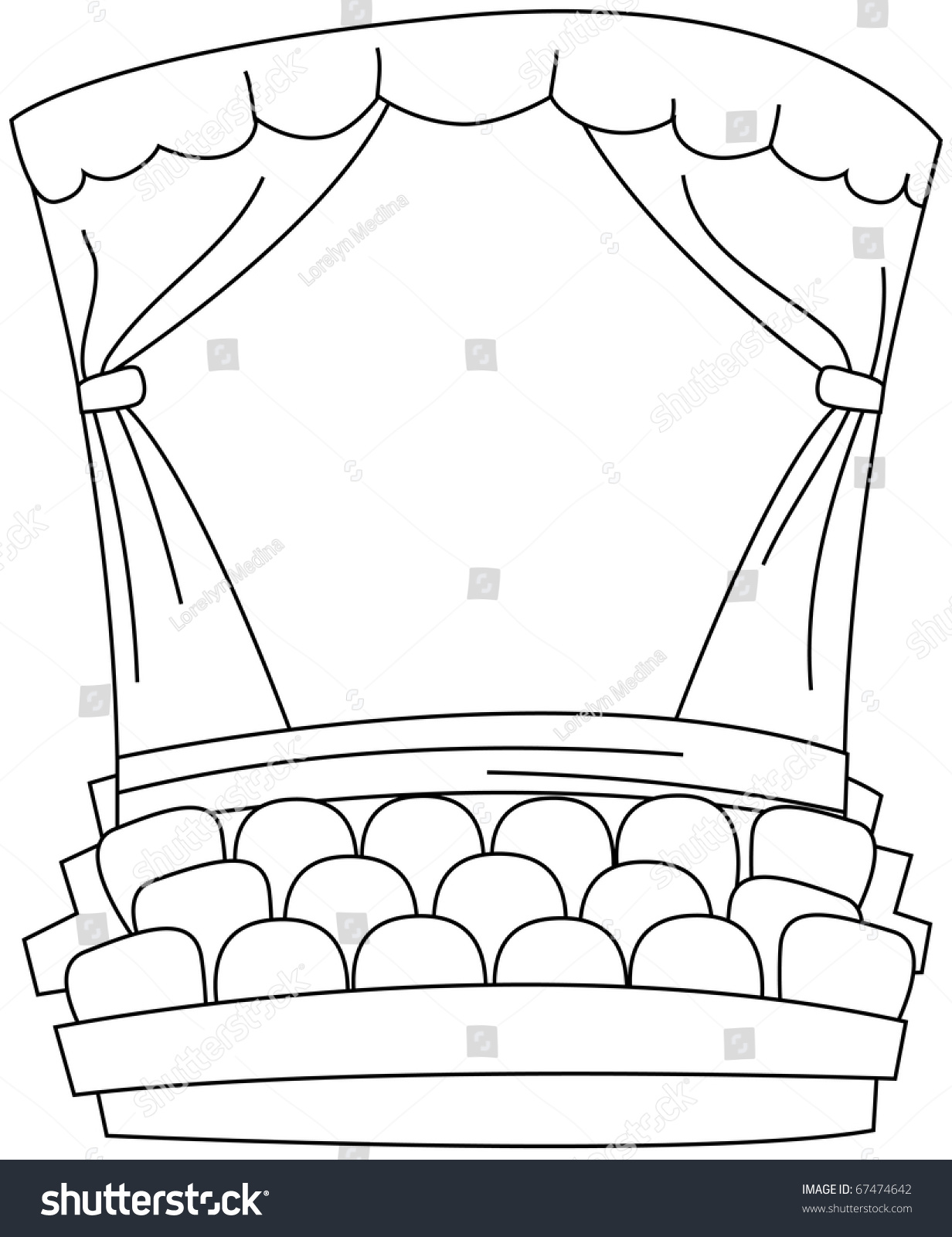 movie theater building clipart devil face coloring pages