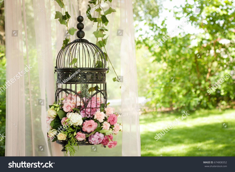Wedding Decor Decor Trees Flowers Black Stock Photo Royalty Free
