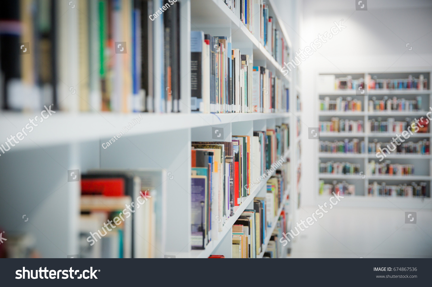 Books New Modern Library Stuttgart Germany Stock Photo (Edit ...