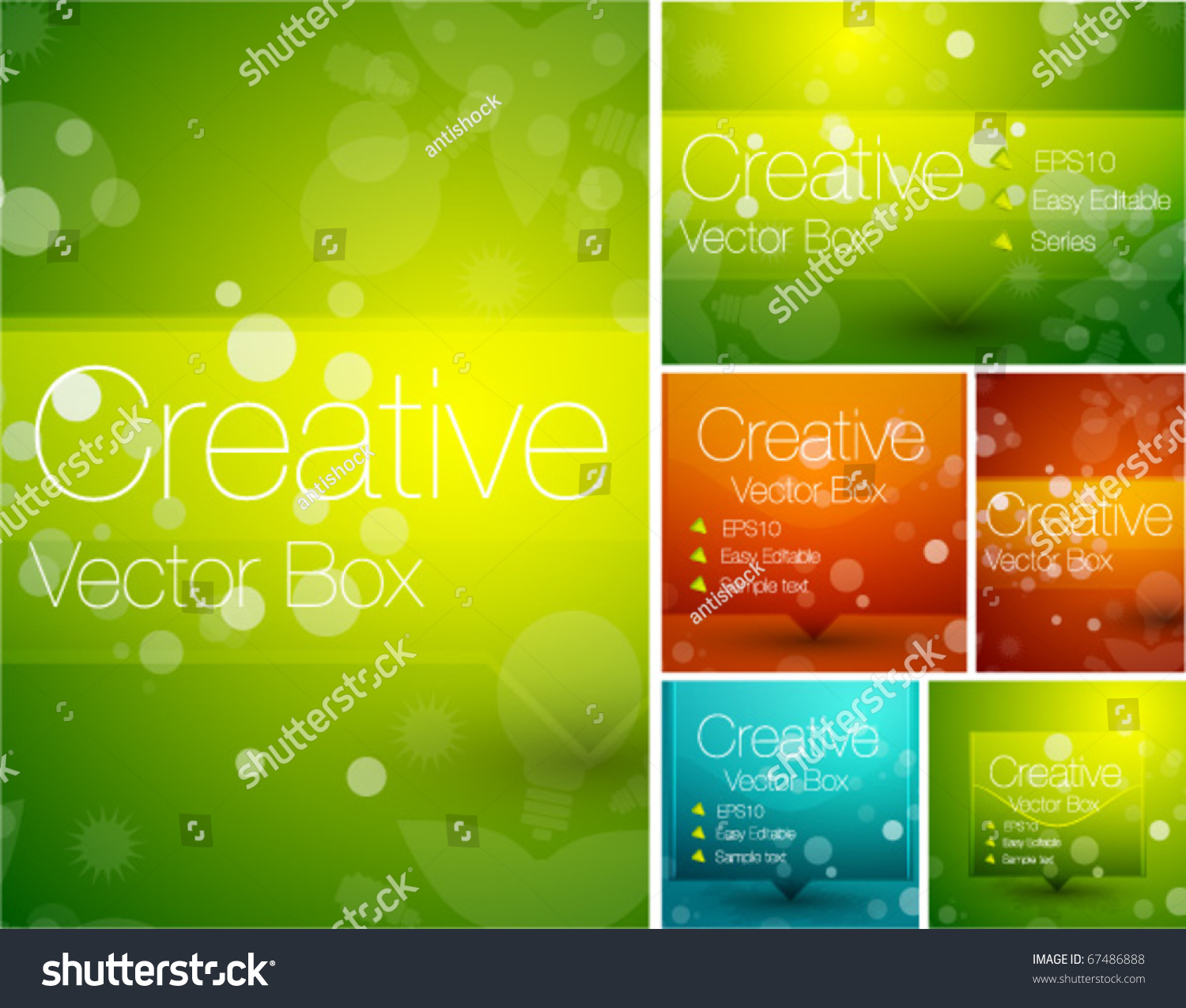 Colorful Abstract Backgrounds Stock Vector Illustration