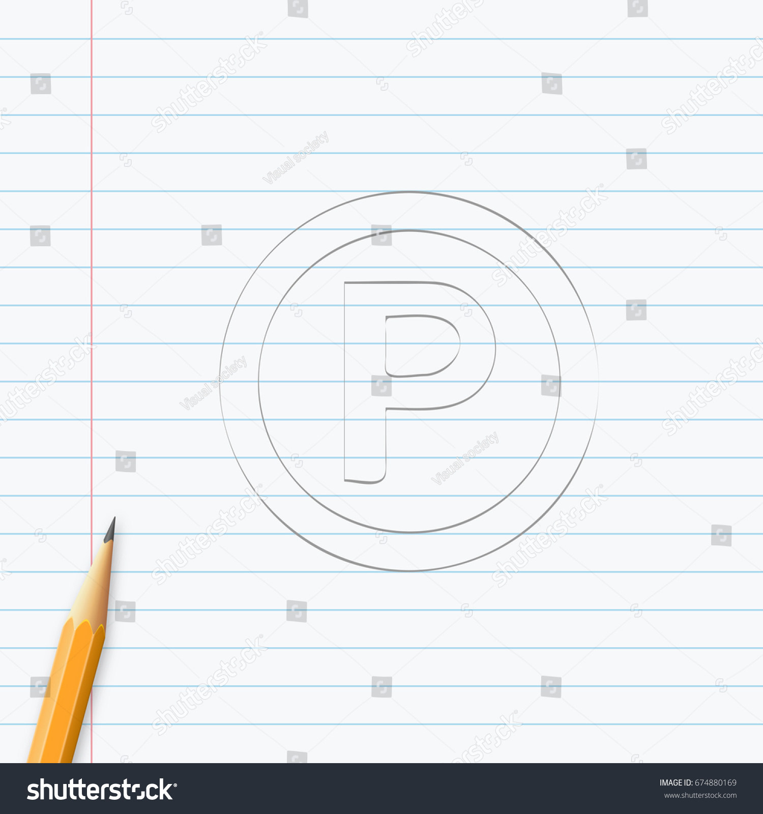 P sound recording copyright symbol hand stock vector 674880169 p sound recording copyright symbol hand drawn with pencil on a paper sheet vector biocorpaavc