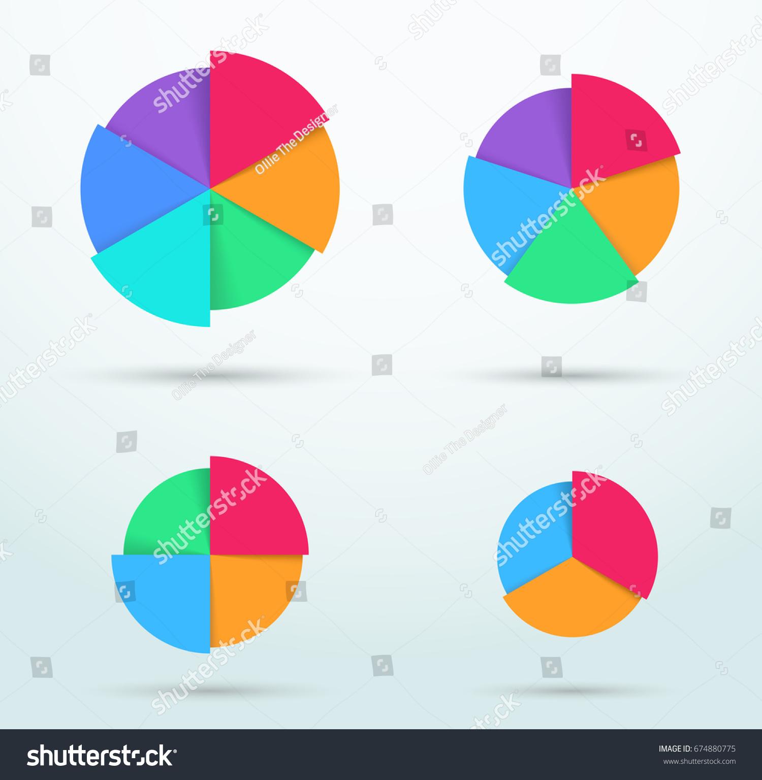 Infographic colorful pie chart segment circles stock vector infographic colorful pie chart segment circles set ccuart Images