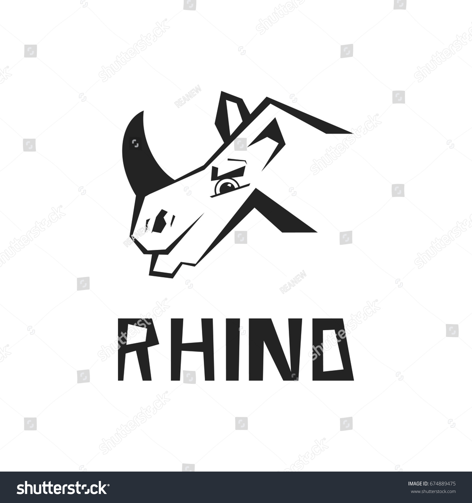 rhinoceros rhino logo business template rhinos stock vector royalty