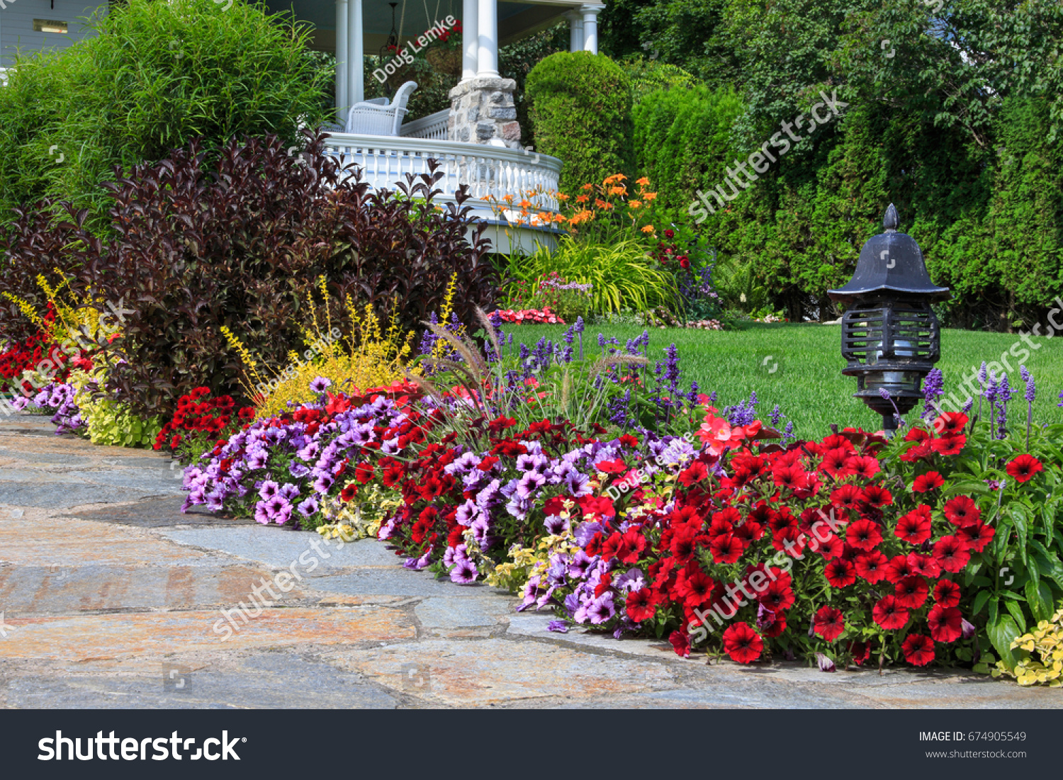 One countless beautiful floral landscapes gardens stock photo edit one of the countless beautiful floral landscapes and gardens on mackinac island michigan usa izmirmasajfo
