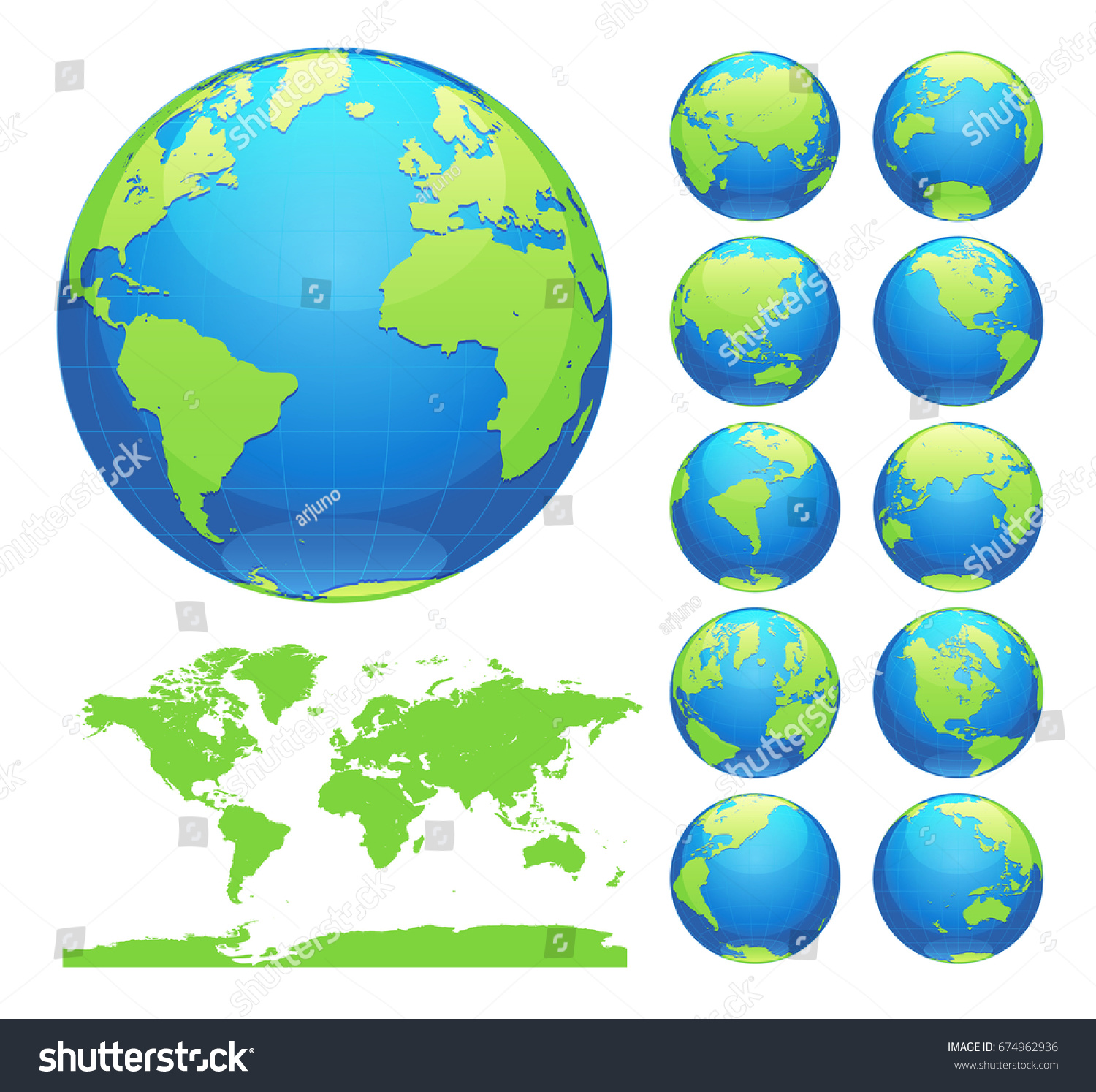 Globes showing earth all continents digital stock vector 674962936 globes showing earth with all continents digital world globe vector dotted world map vector gumiabroncs Gallery