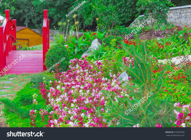 Beautiful Flower Beds Scenery Garden Stock Photo Edit Now