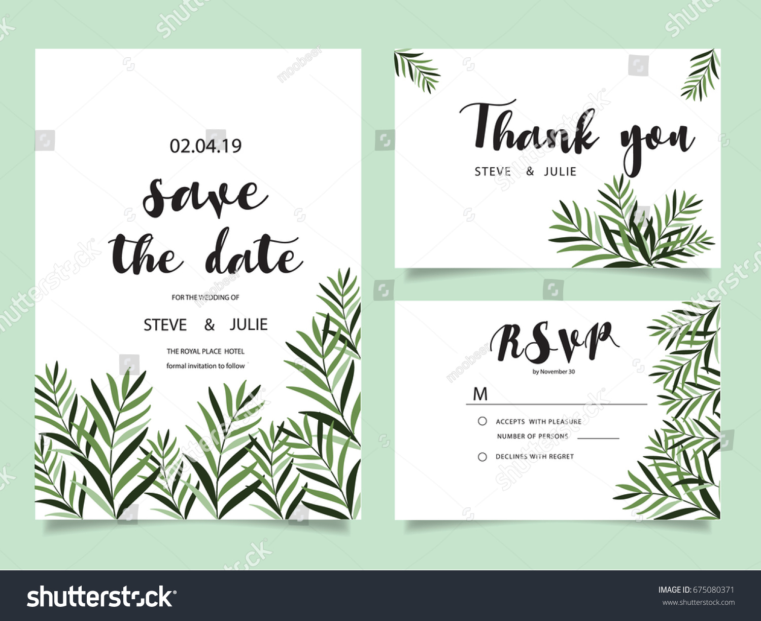 Wedding invitation card template text stock vector 675080371 wedding invitation card template with text stopboris Choice Image