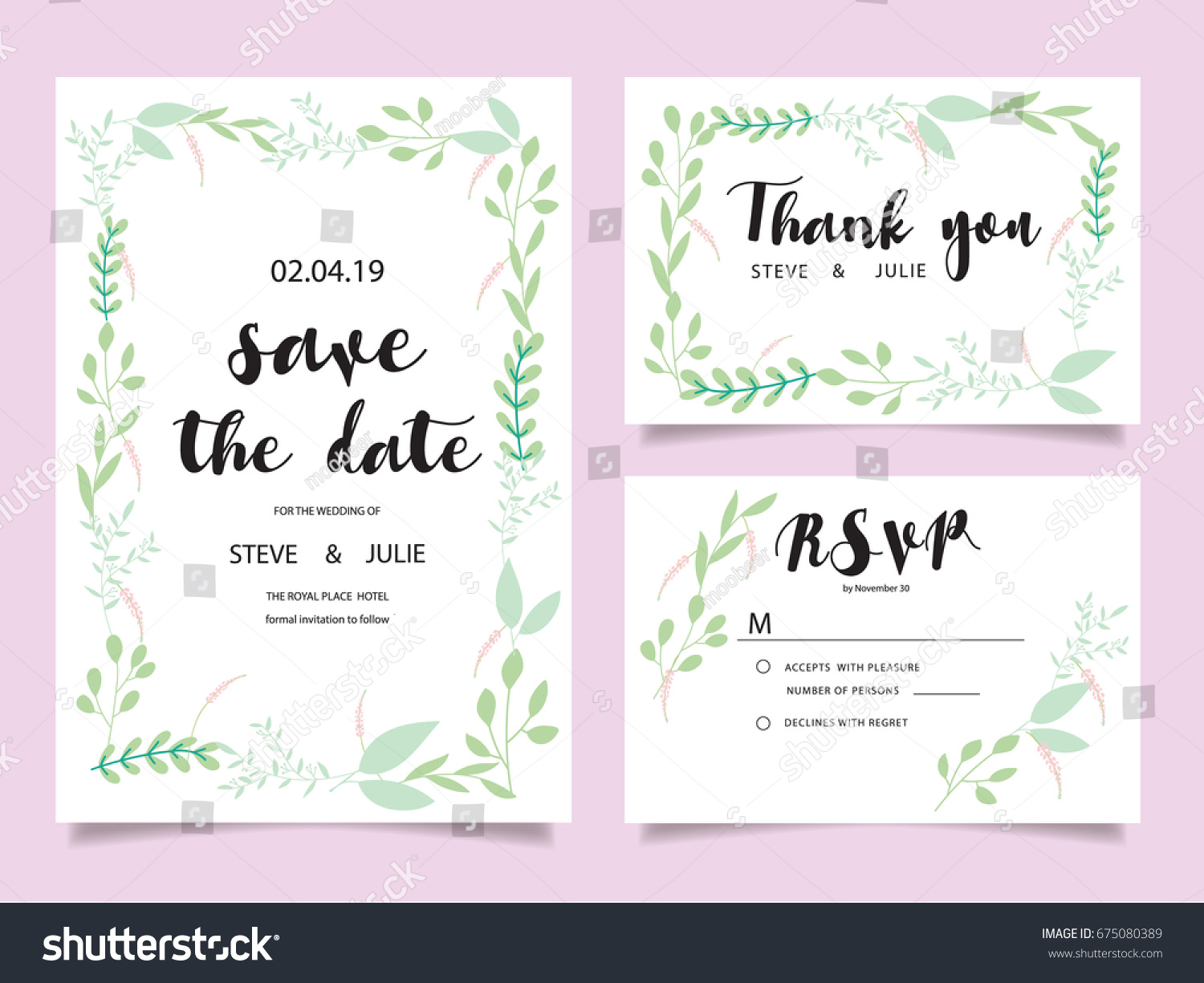 Wedding invitation card template text stock vector 675080389 wedding invitation card template with text stopboris Images