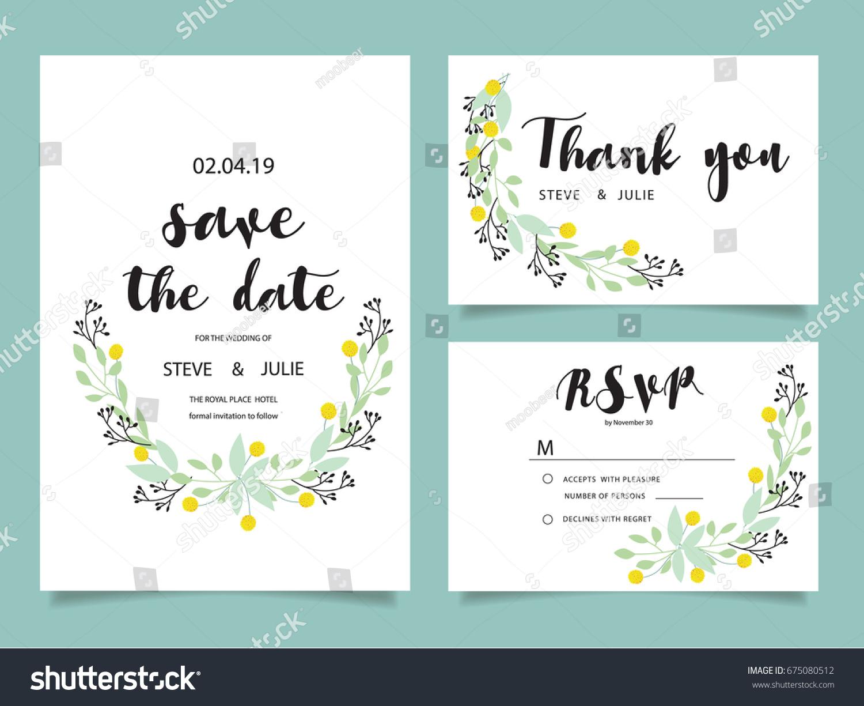 Wedding Invitation Card Template Text Vector 675080512 – Marriage Invitation Card Text
